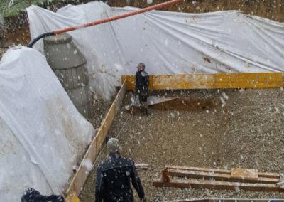 Fundamentarbeiten im Winter