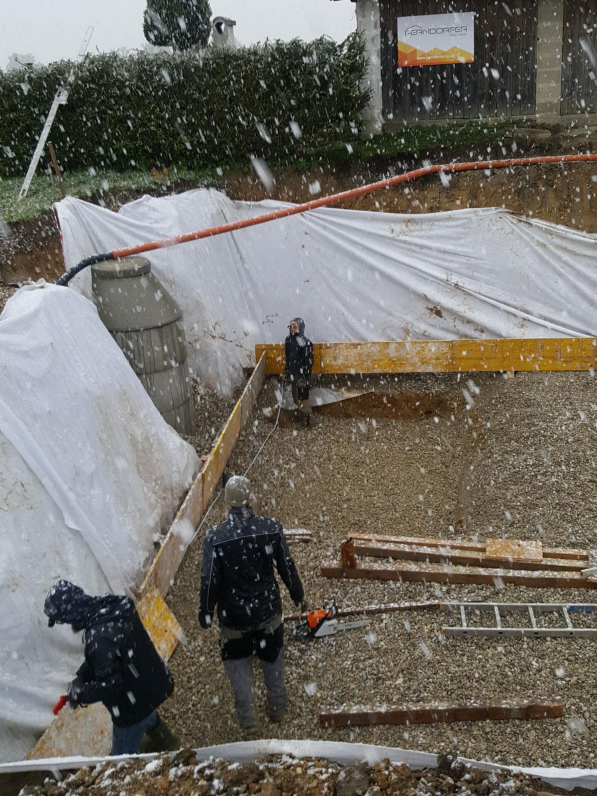 Baustelle im Winter II