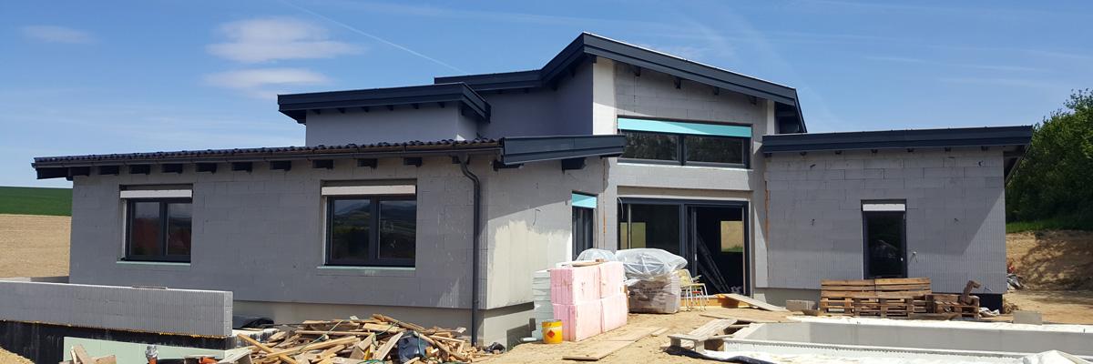Rohbau mit 3D-Panel Dachdämmung der Firma Perndorfer | Mein Haus