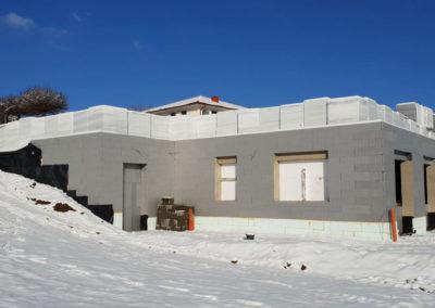 Thermowerk Rohbau im Winter