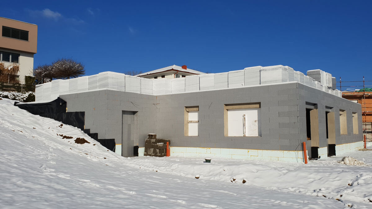 Baustelle im Winter